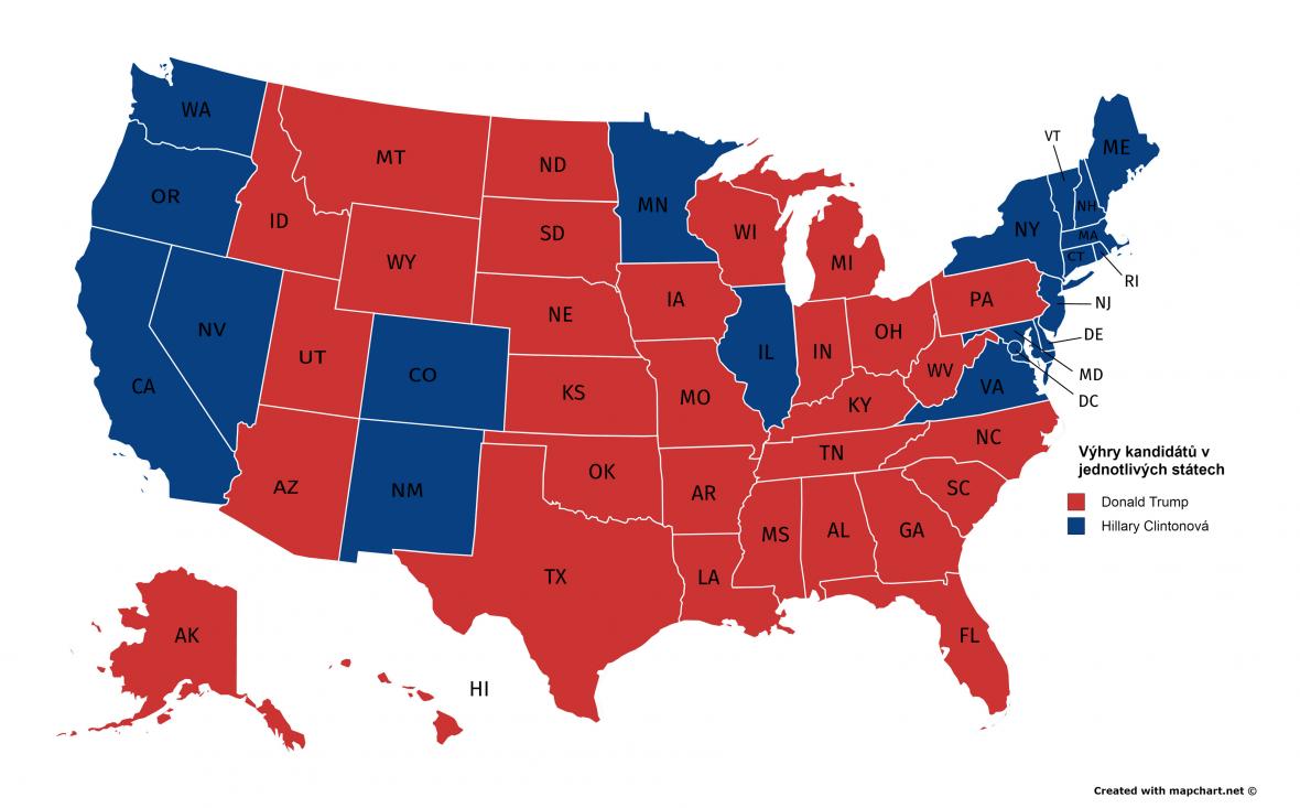 Výsledky voleb v USA