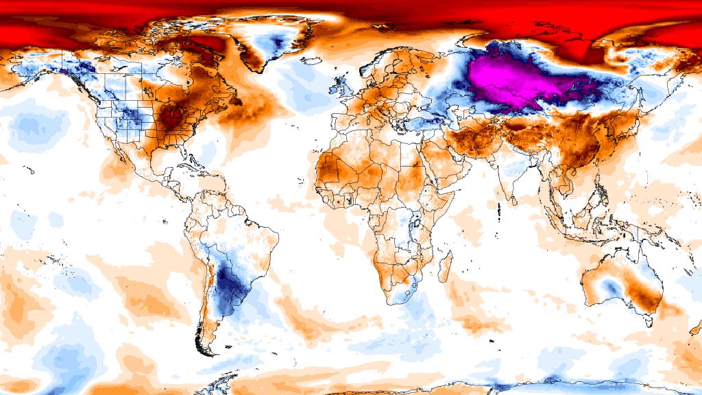 Rekordní teploty nad Arktidou