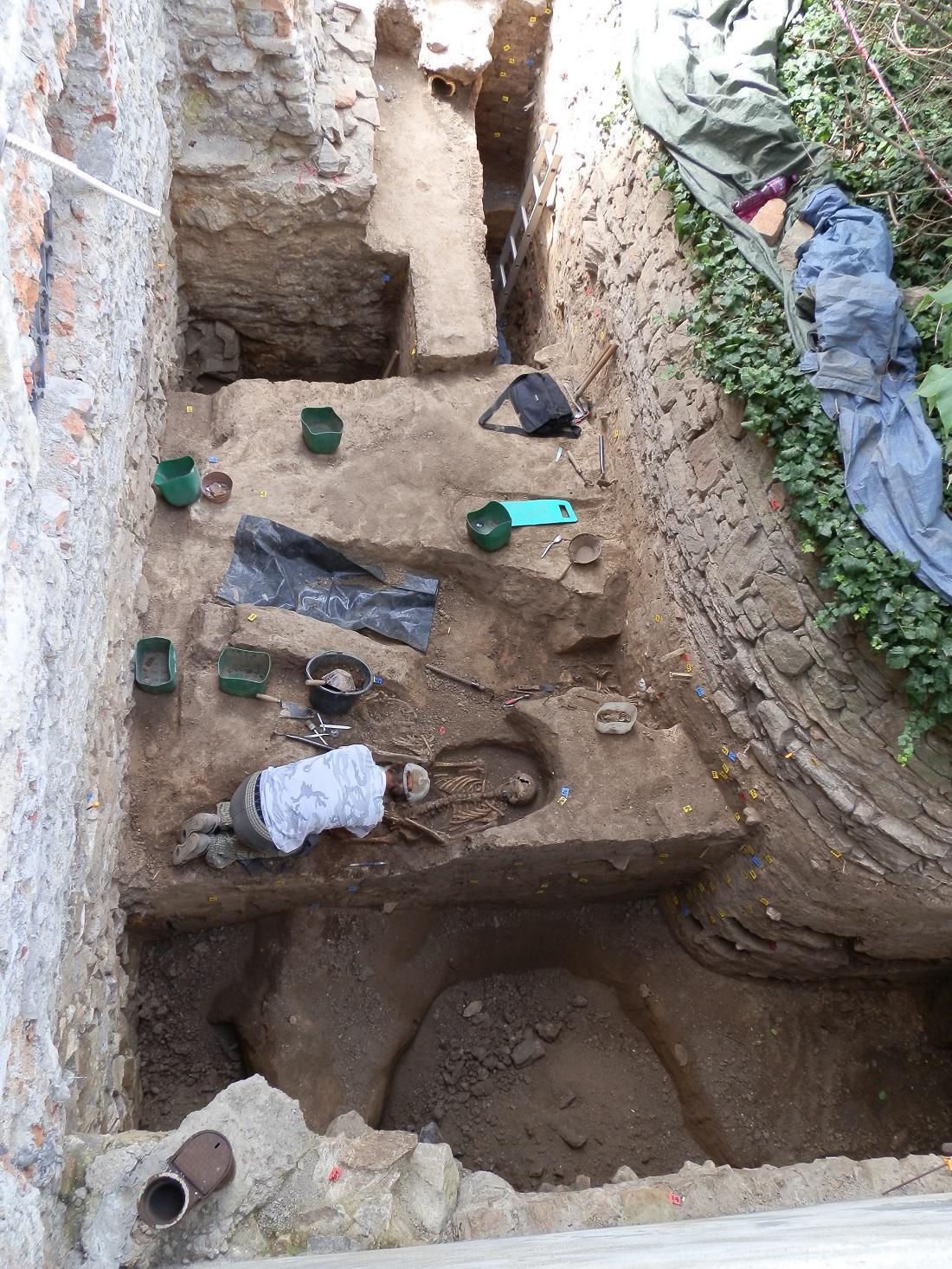 Archeologický průzkum hřbitova v Kutné Hoře - Sedlci