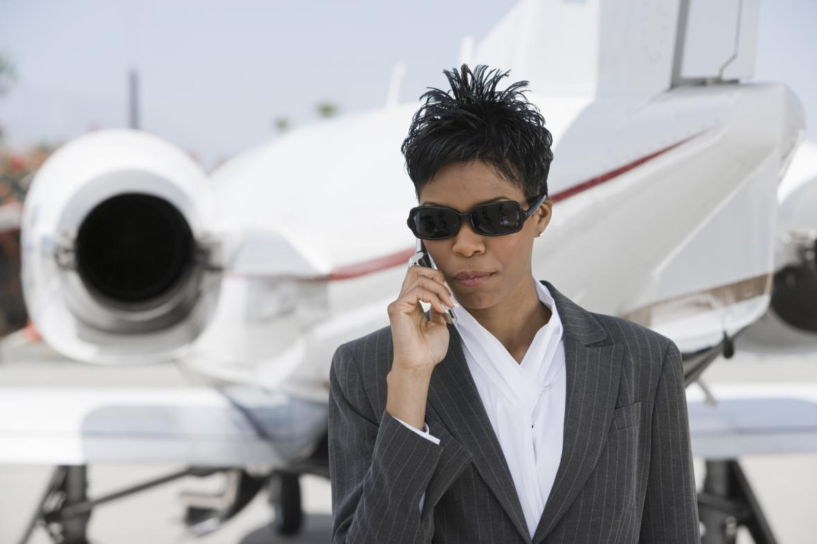 Telefonování v letadle