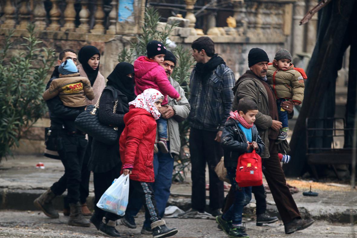 Civilisté v Aleppu