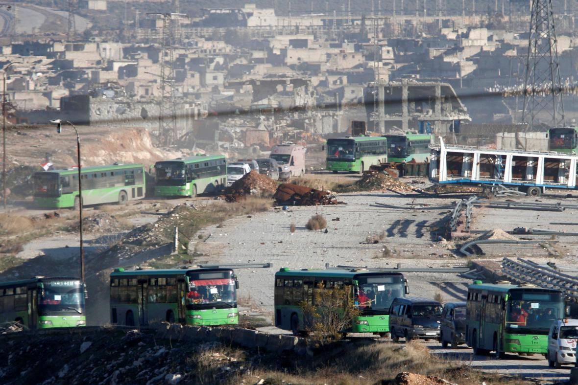 Evakuace syrských civilistů