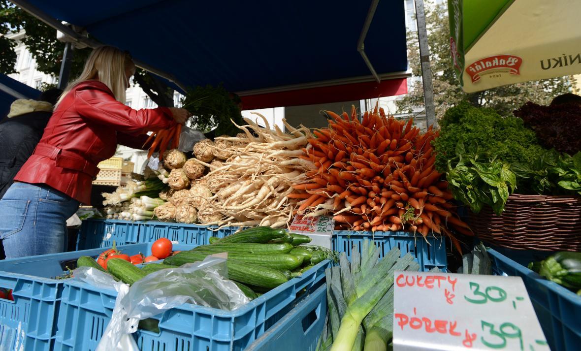 Farmářské tržiště na Jiřího z Poděbrad