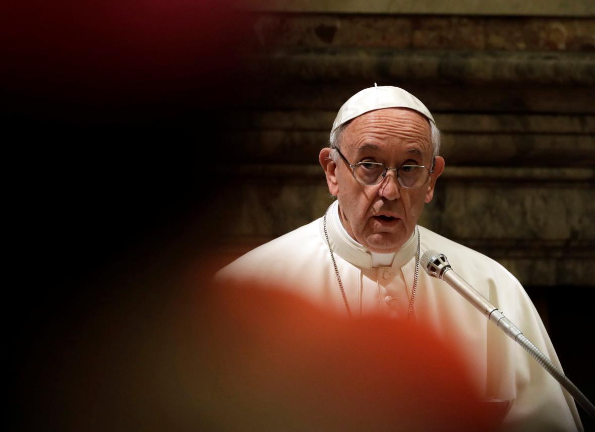 František během předvánočního projevu