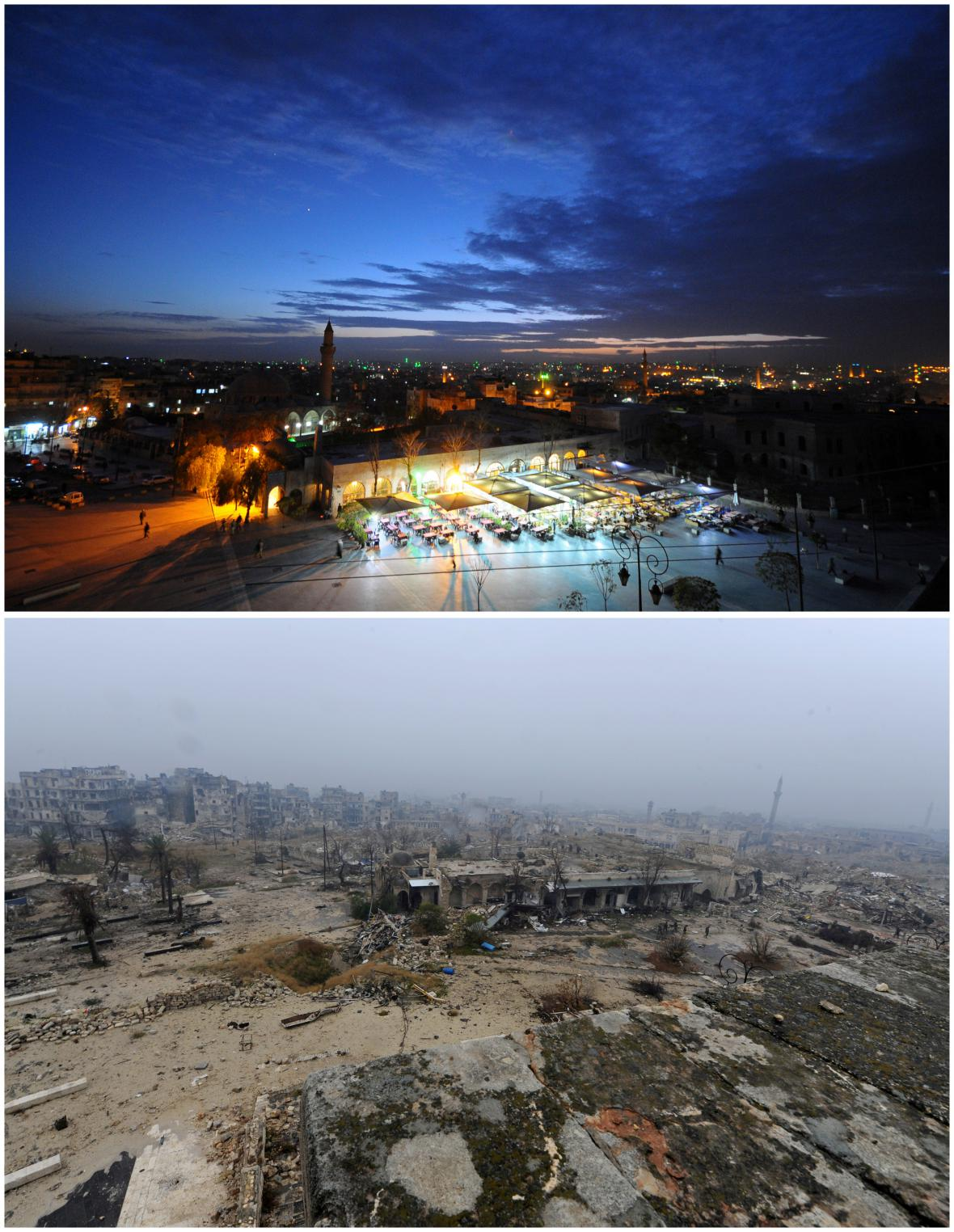 Proměna Aleppa po čtyřech letech války