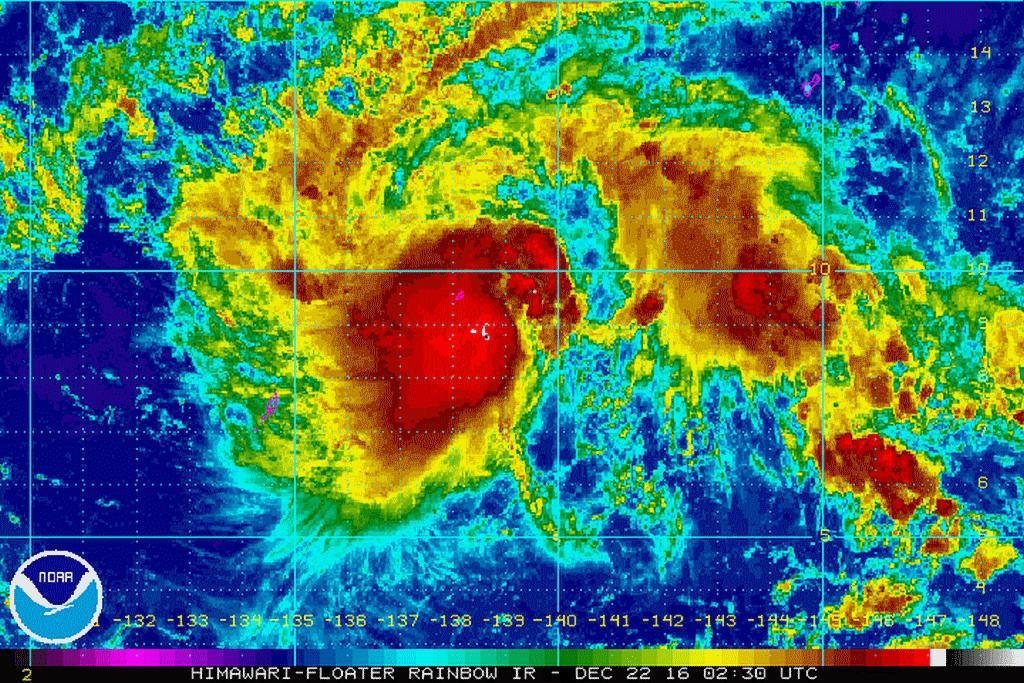 Satelitní snímek tajfunu Nina (Nockten)