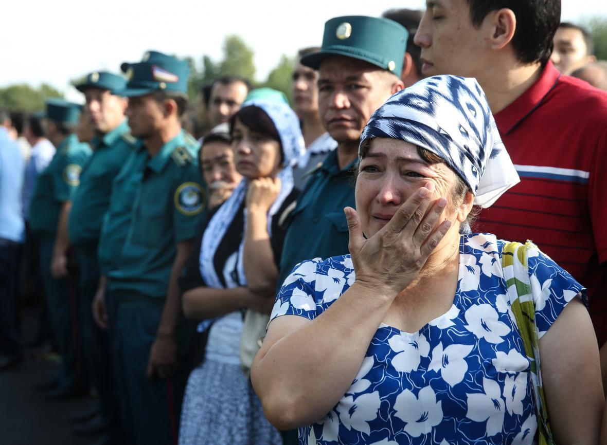 Smuteční ceremoniál za uzbeckého prezidenta Islama Karimova