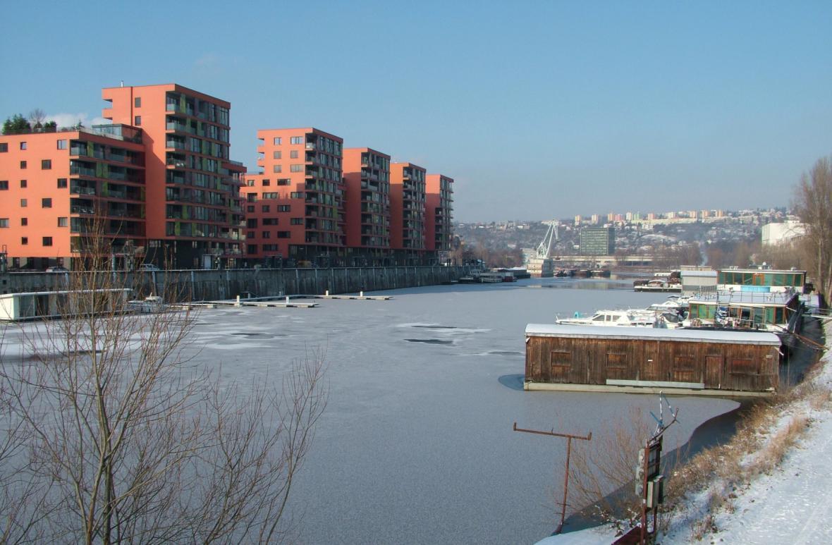 Projekt Marina v Praze u Libeňského mostu