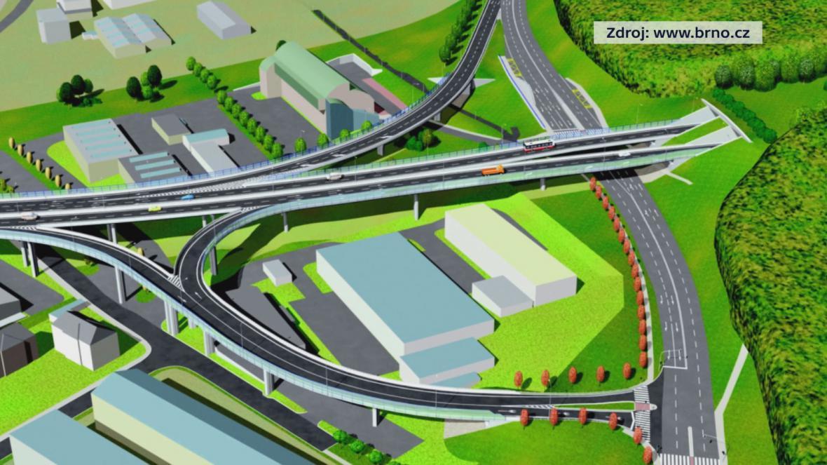 Mimoúrovňové křižovatky navazující na velký městský okruh