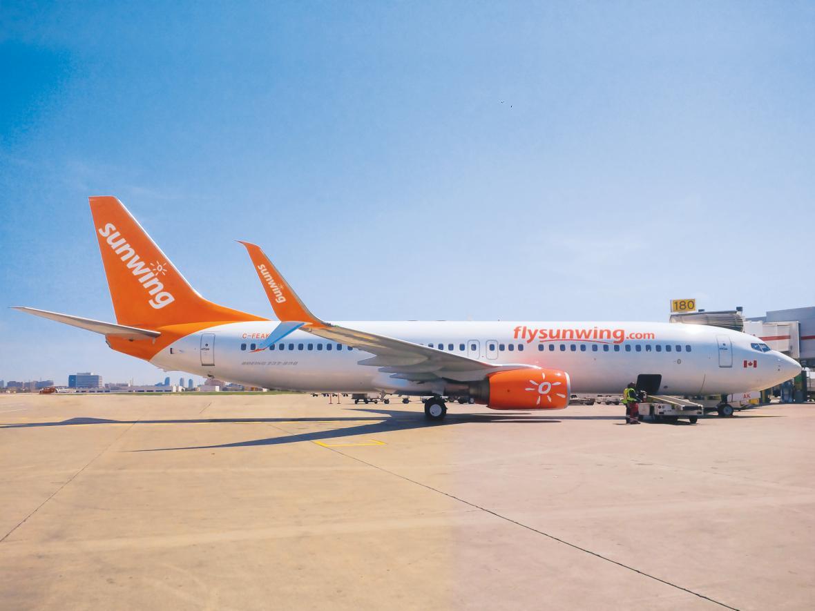 Boeing 737 patřící společnosti Sunwing Airlines