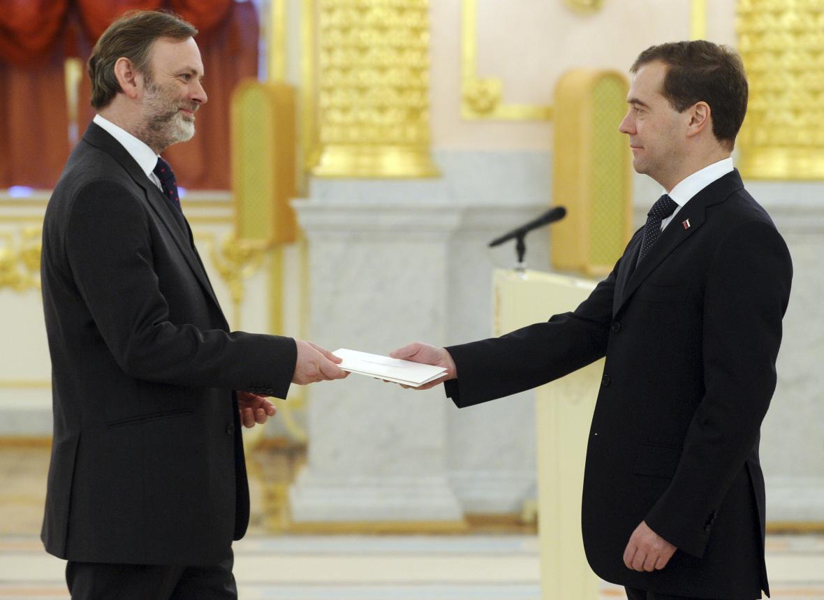 Tim Barrow při nástupu do funkce velvyslance v Moskvě (prosinec 2011)