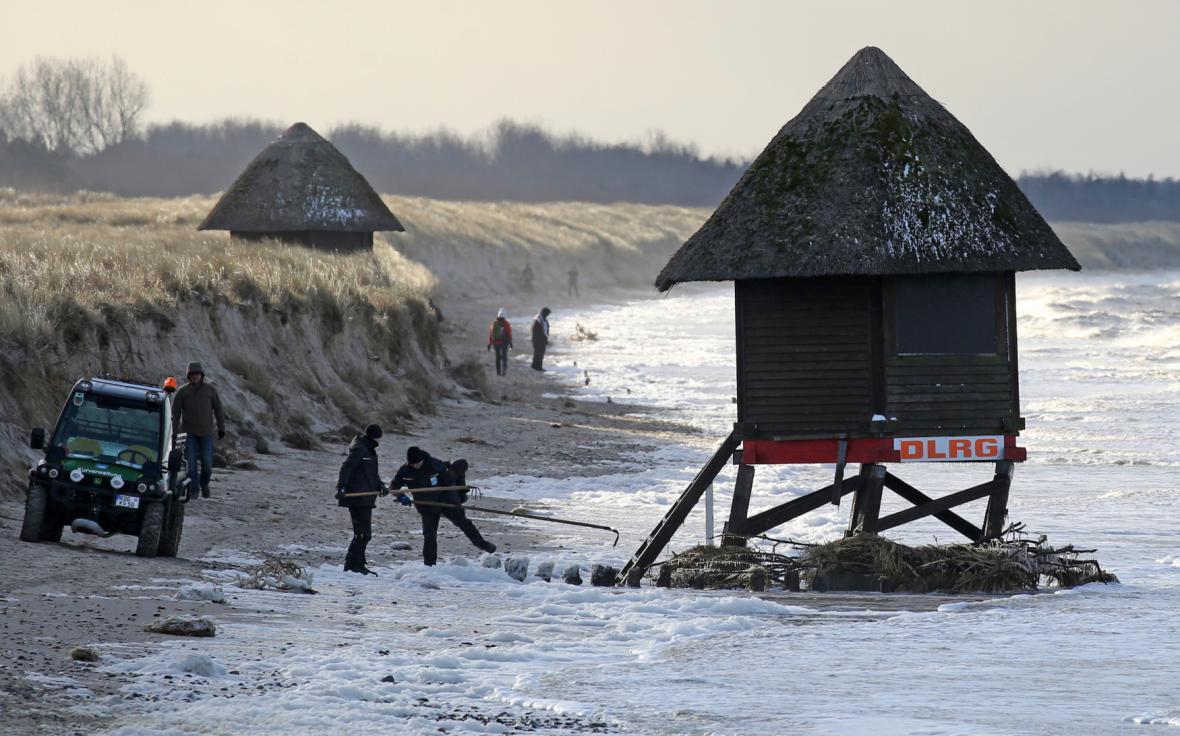 Pobřeží Baltského moře u obce Graal-Mueritz
