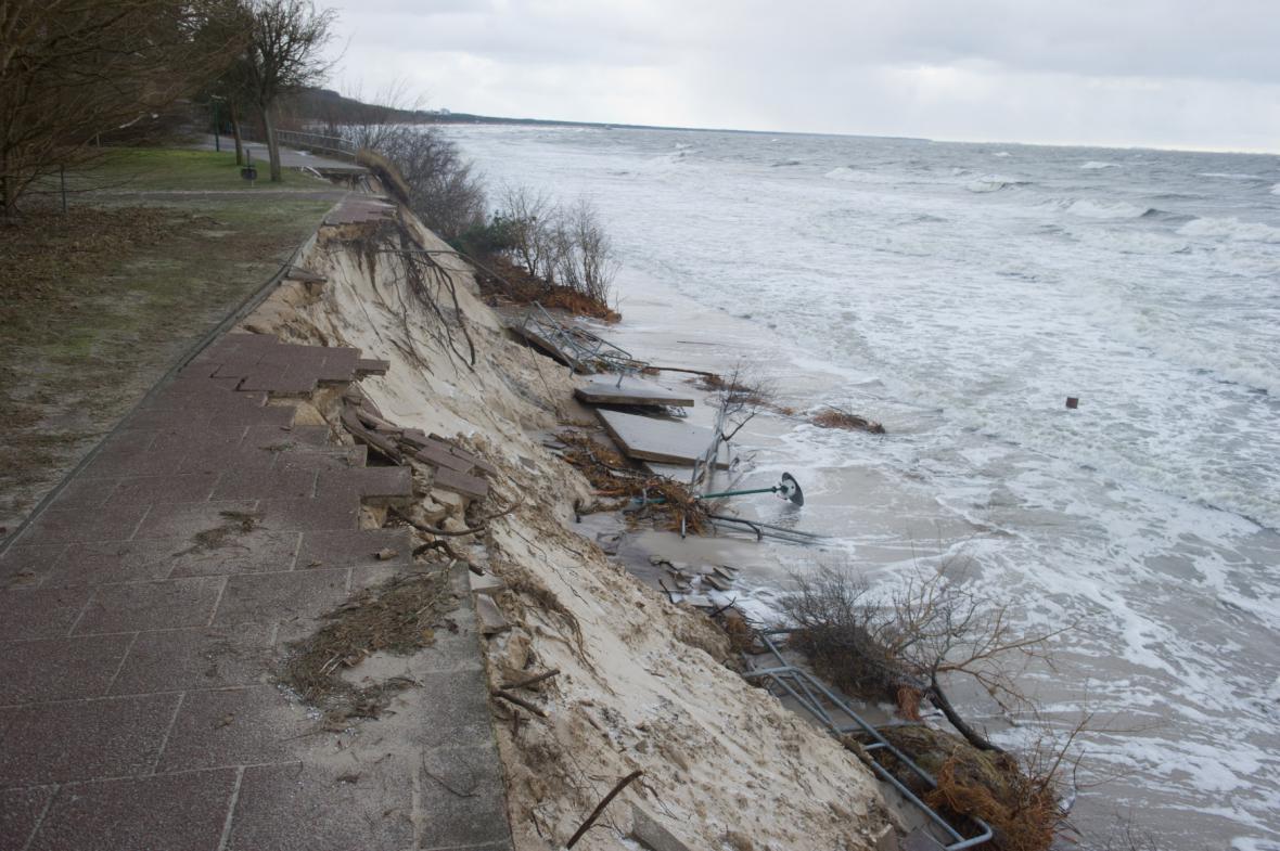 Podemleté pobřeží Baltského moře