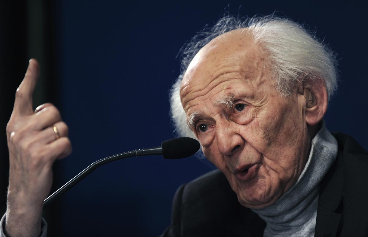Zygmunt Bauman na konferenci v roce 2010