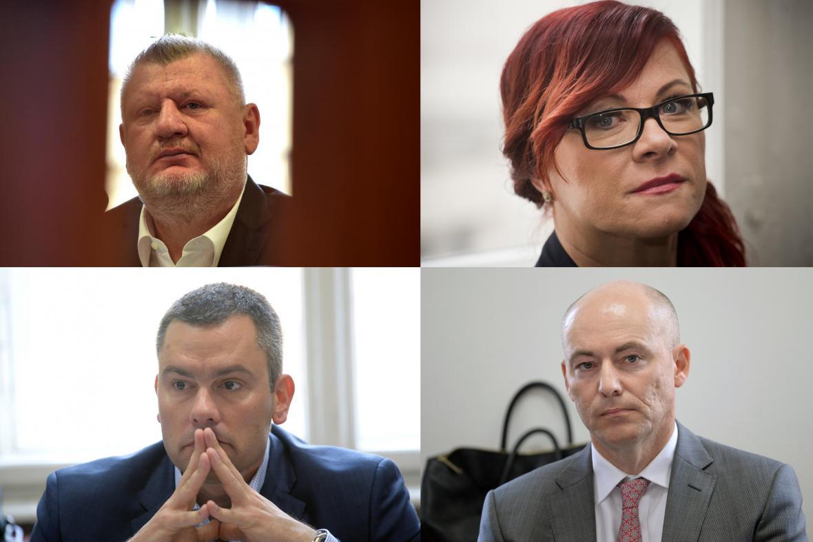 Známí v případu: Rittig, Nečasová, Michal a Jindra
