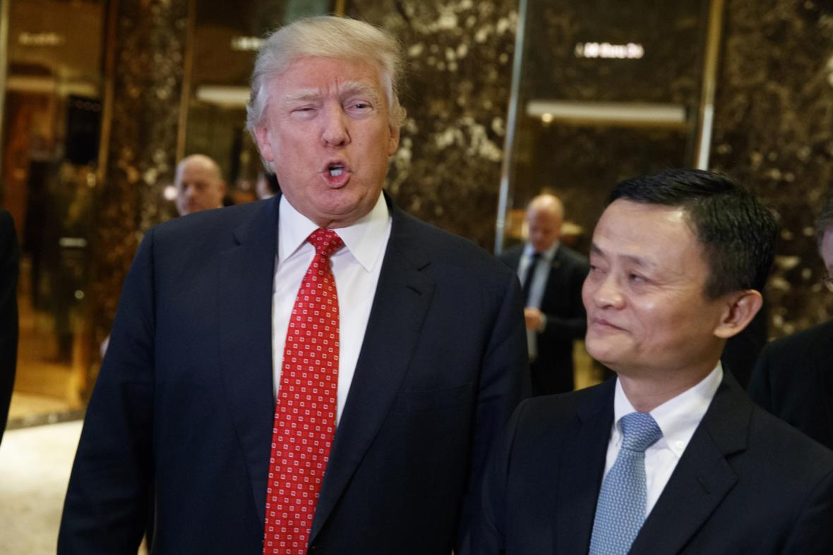 Donald Trump a Jack Ma