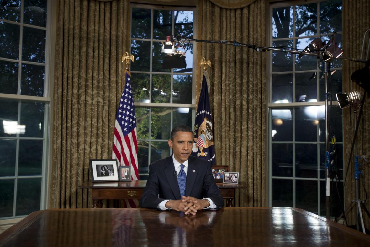 Obrazem: Obama v úřadě, v zákulisí i v soukromí