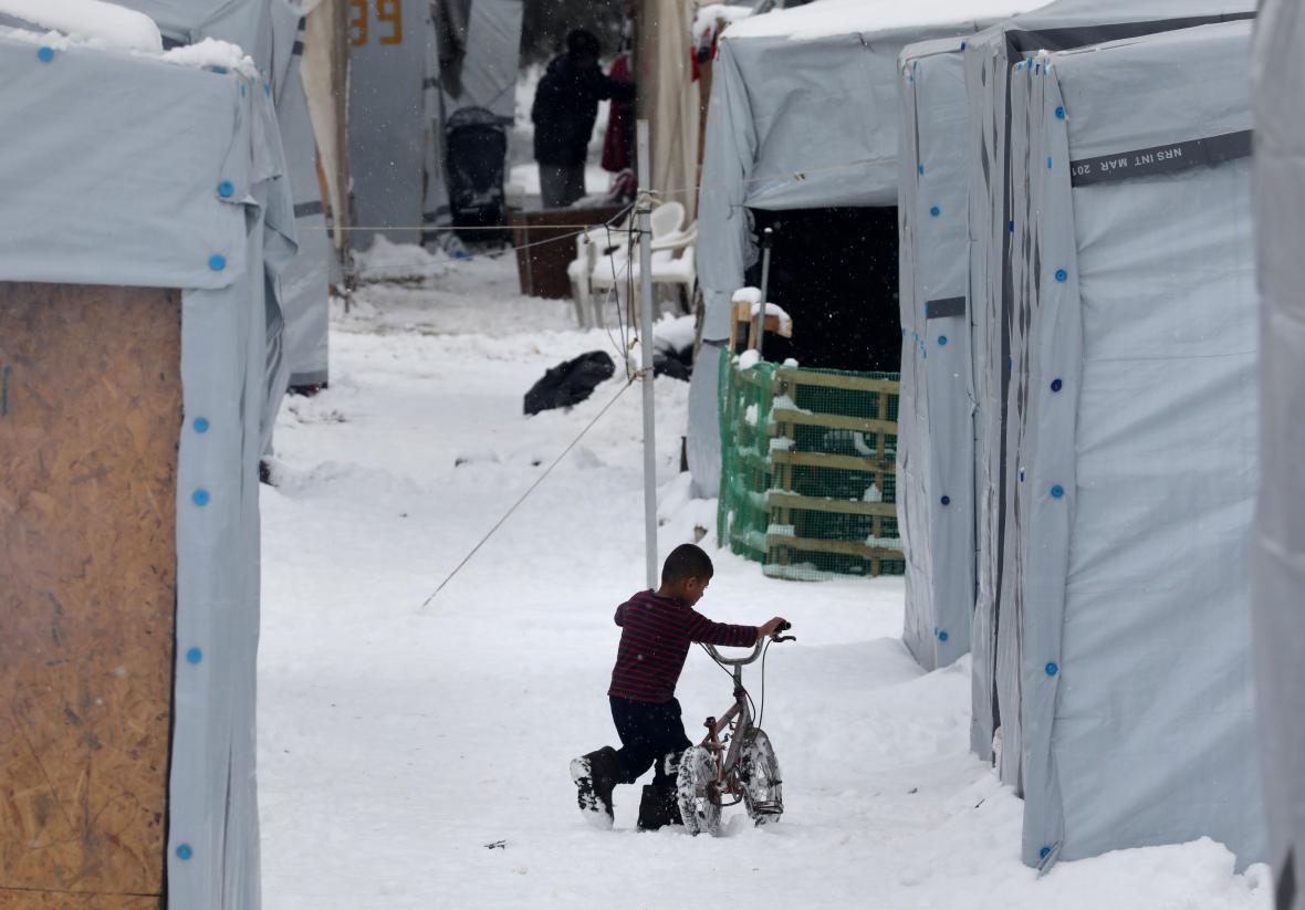 Zima udeřila i na tábory poblíž Atén