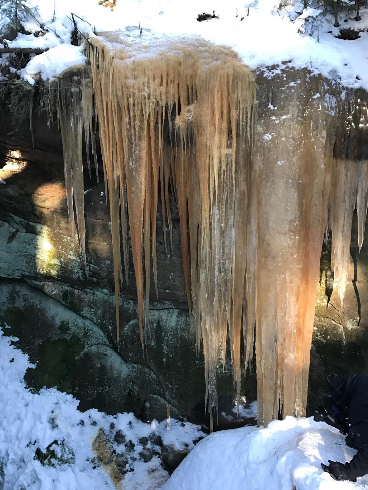 Pulčínské ledopády v plné kráse
