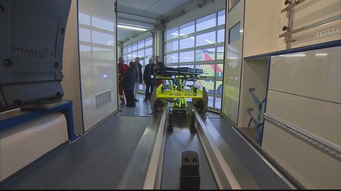 Sanitní vozidlo určené pro speciální transporty