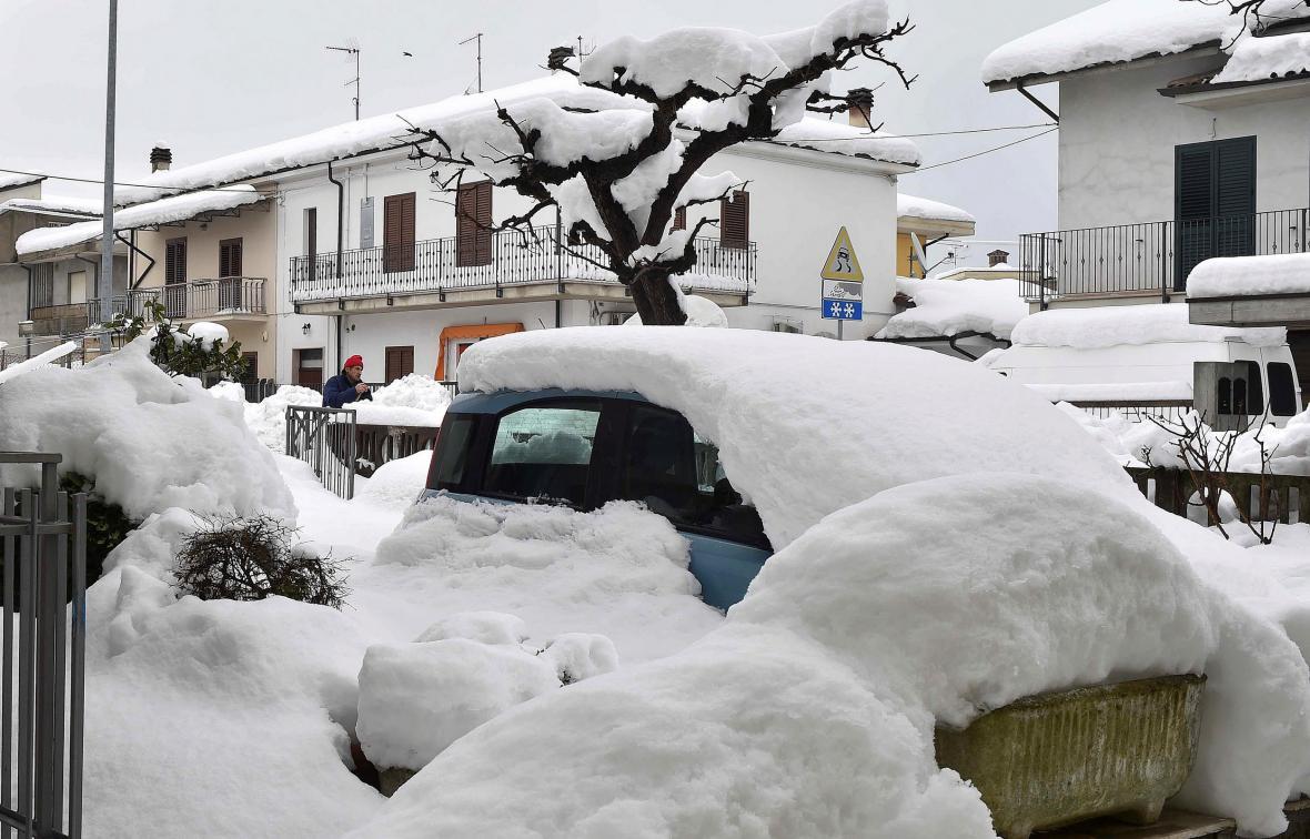 Přívaly sněhu v Itálii