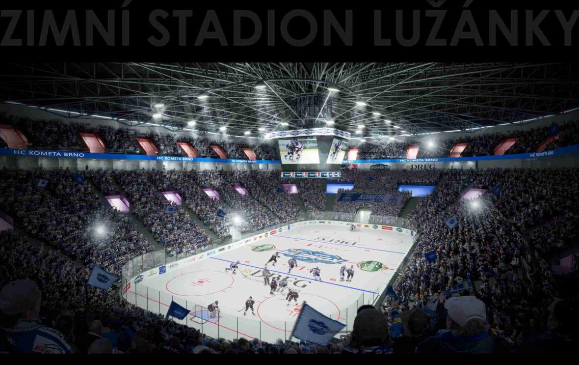 Vizualizace nového zimního stadionu za Lužánkami