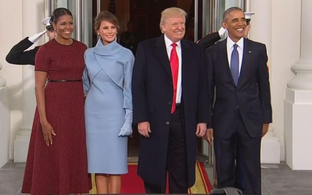 Barack Obama naposledy v roli hostitele v Bílém domě
