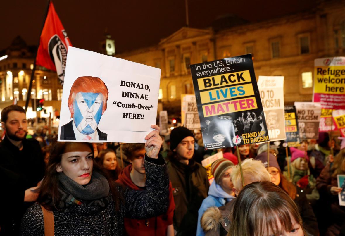 Protesty proti inauguraci Donalda Trumpa