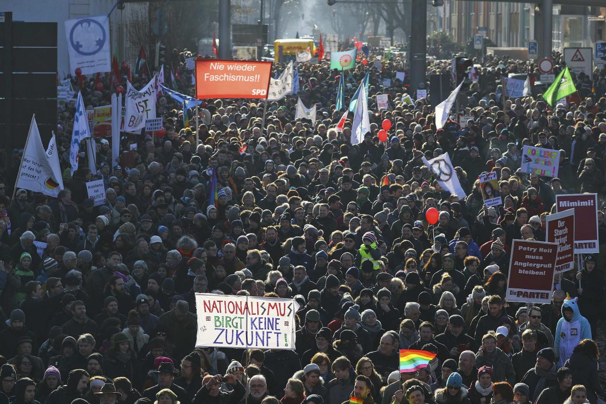 Demonstrace v Koblenci