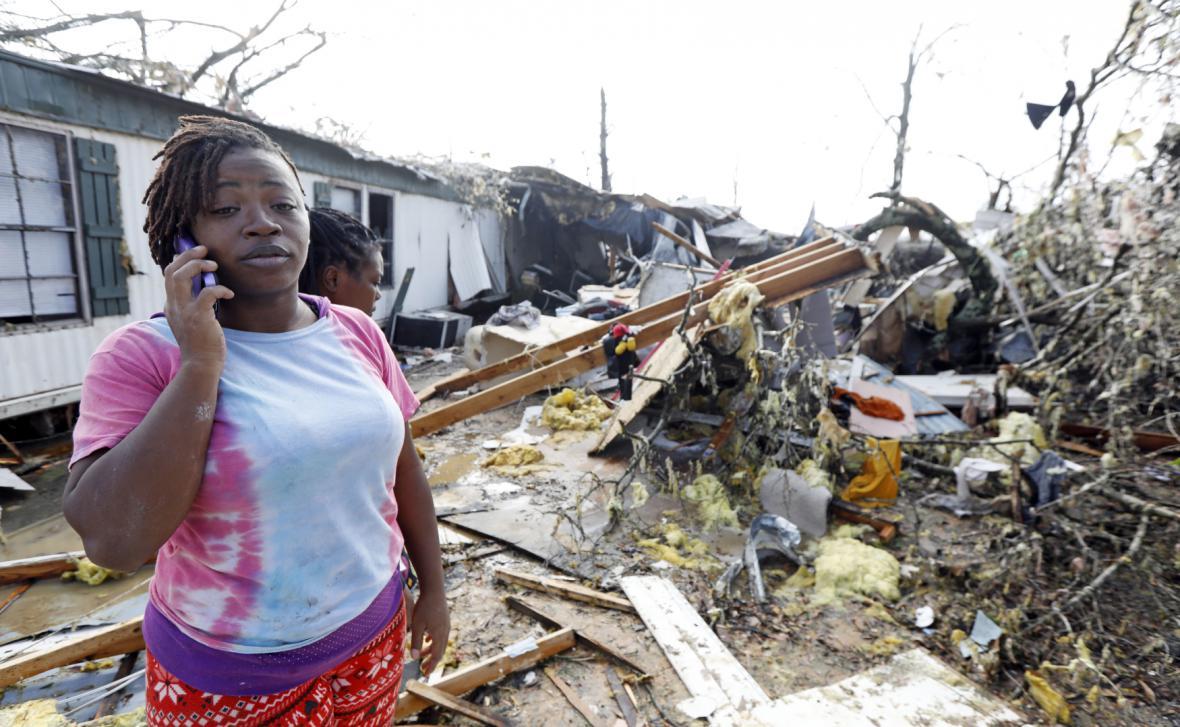 Následky řádění tornáda ve městě Hattiesburg v Mississippi
