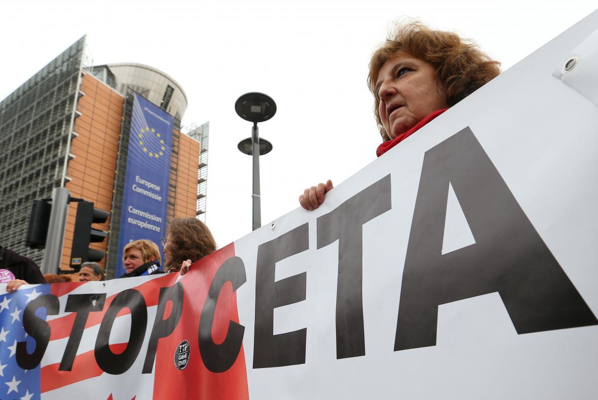 Demonstrace proti smlouvě CETA