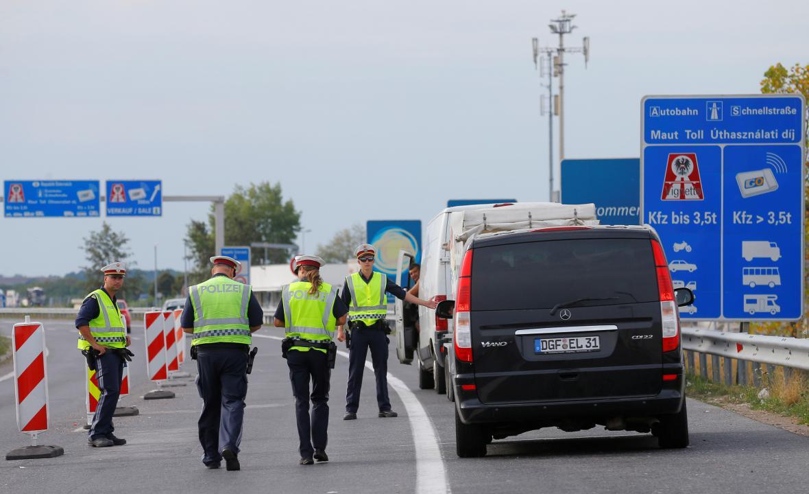 Kontrola na rakousko-maďarských hranicích
