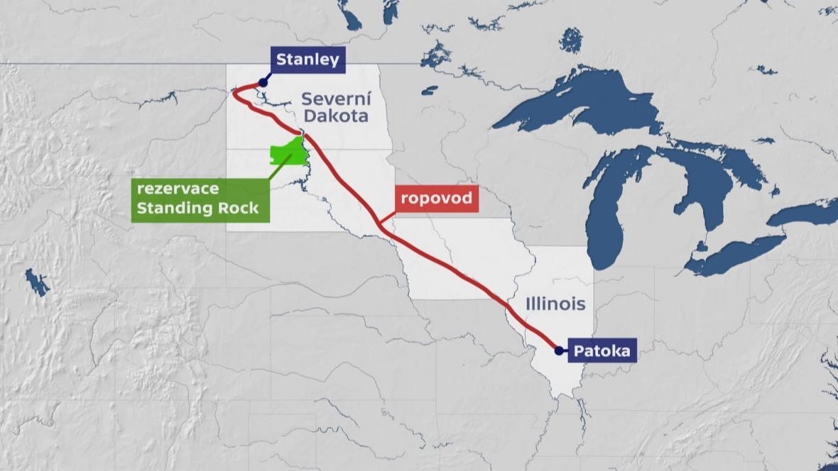 Vedení ropovodu Dakota Access