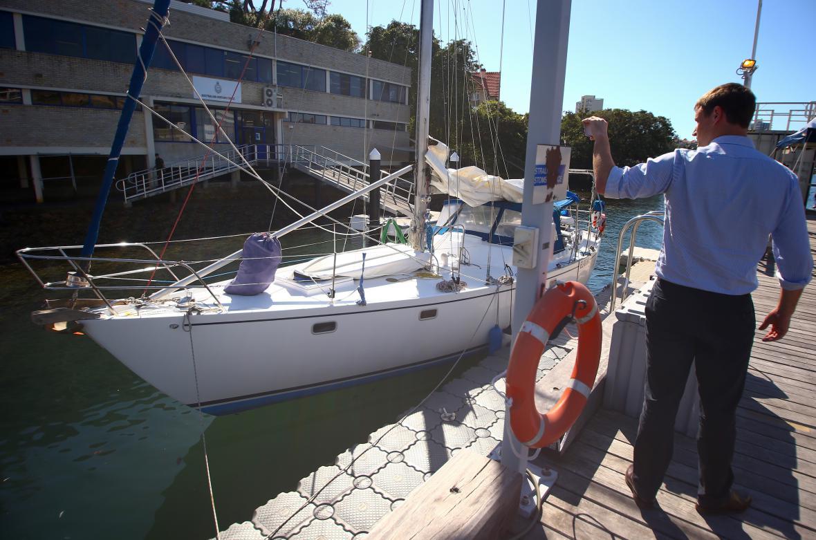Snímek lodě, kde policisté rekordní várku našli
