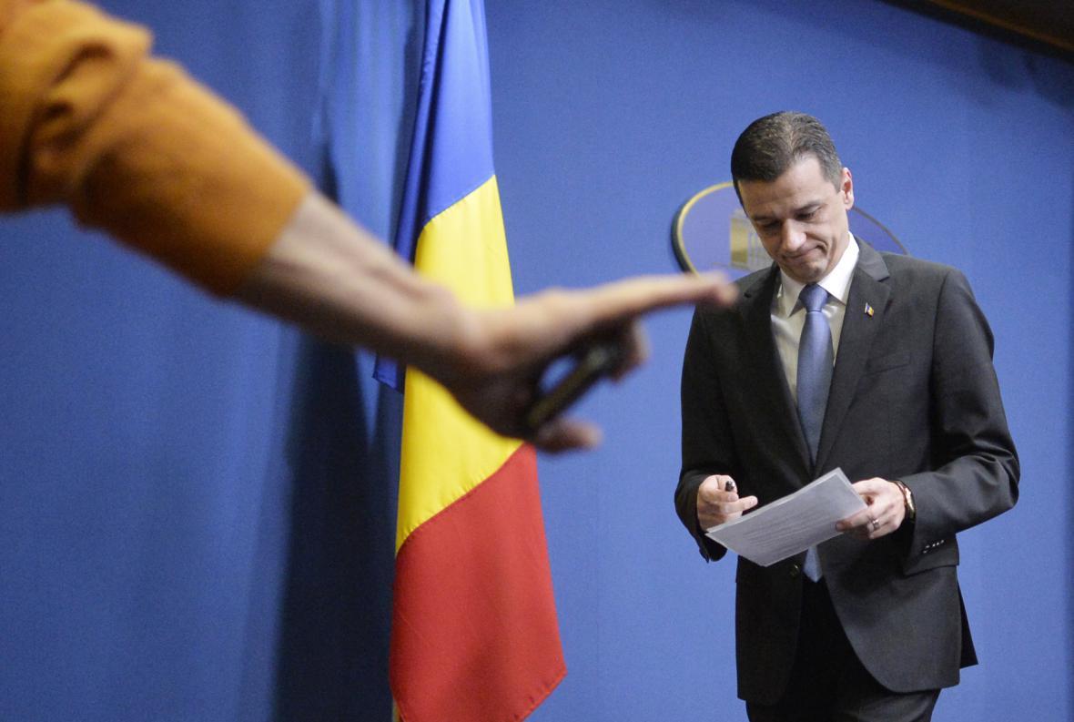 Rumunský premiér Sorin Grindeanu