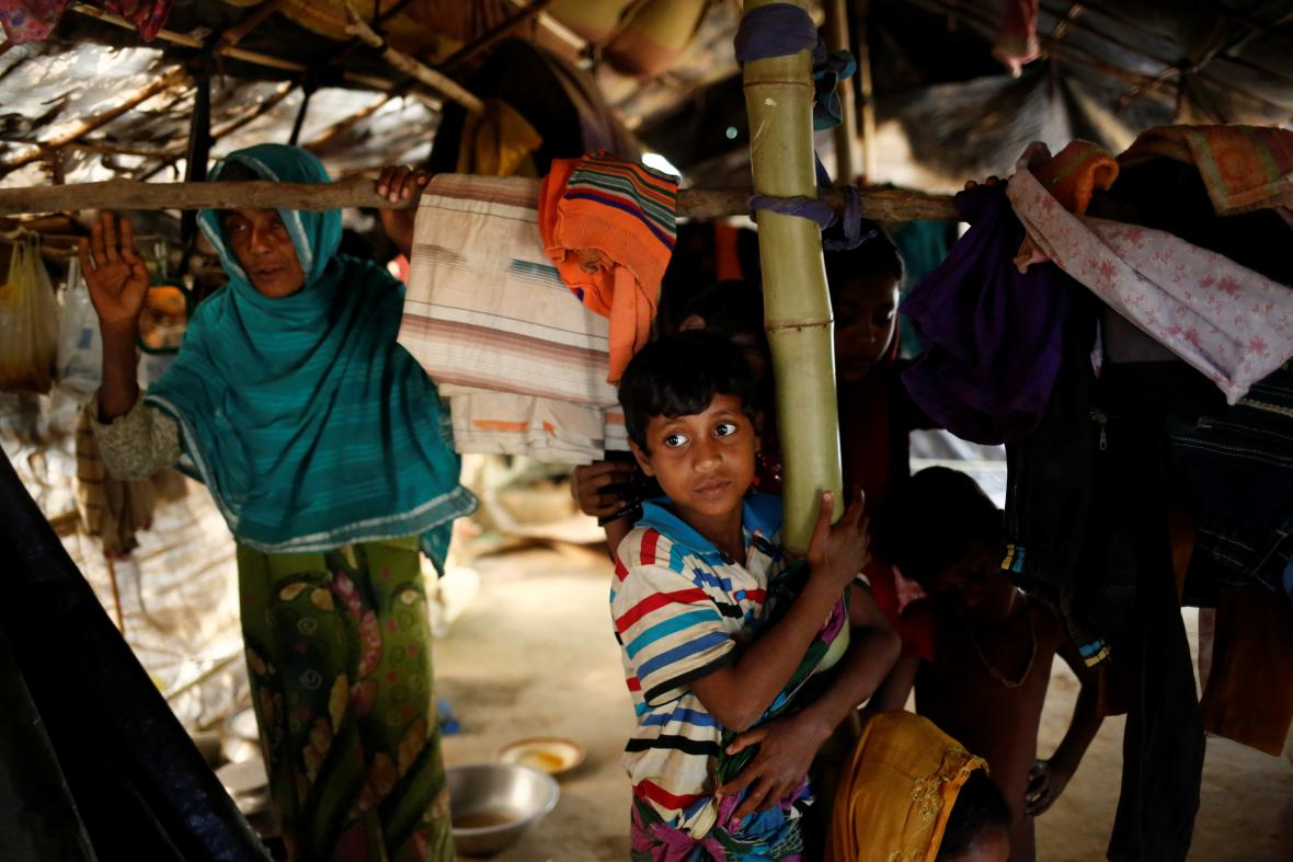 Rohingové v uprchlickém táboře v Bangladéši