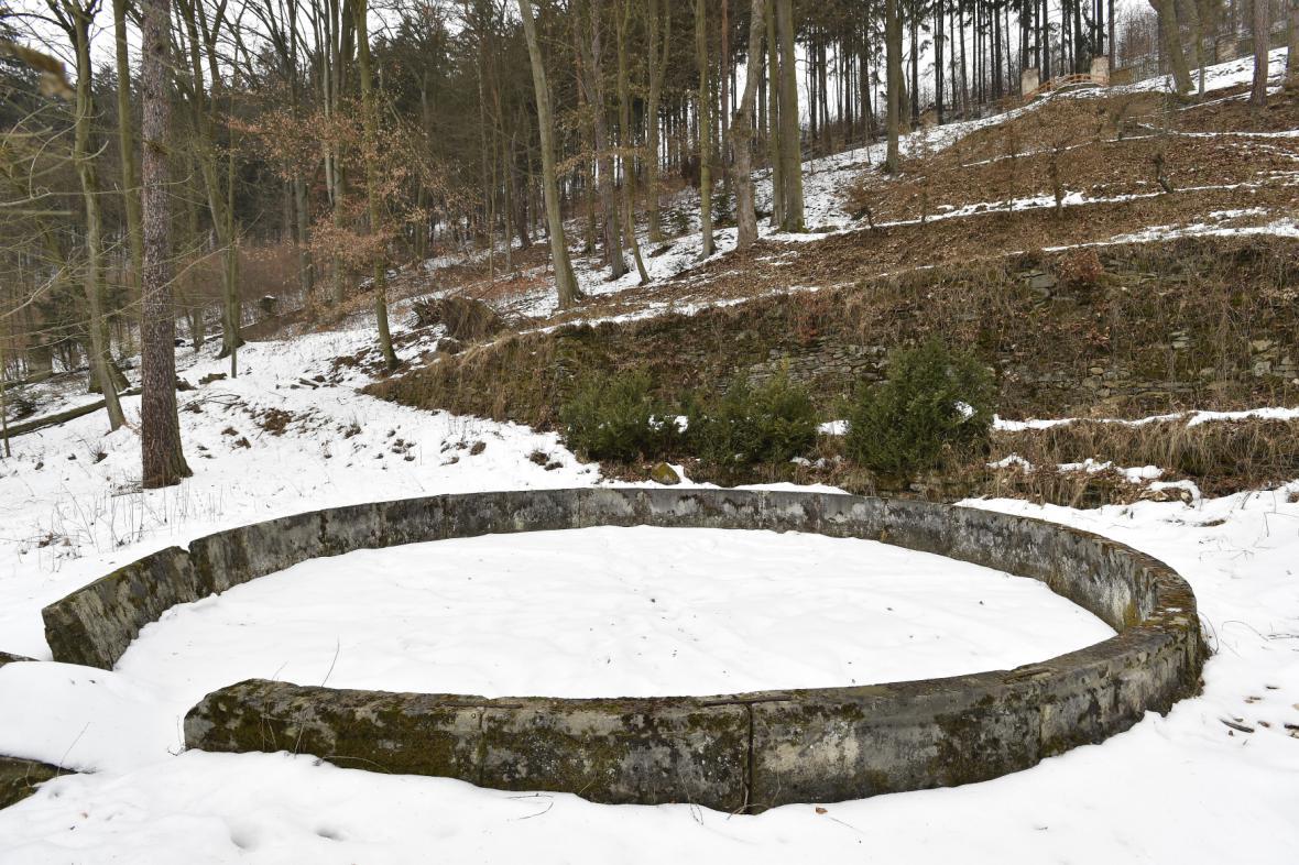 Zahrady u Pernštejna v zimě