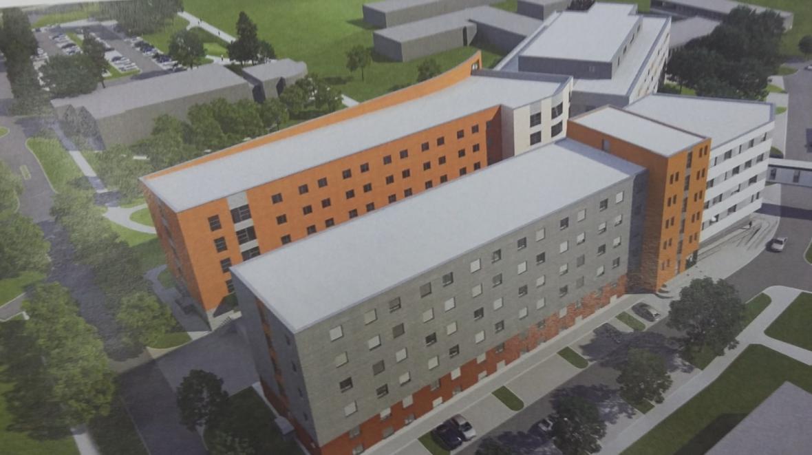 Vizualizace budoucí podoby nemocnice s novou internou