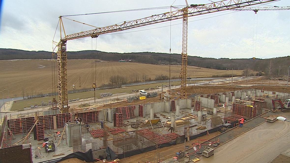Stavba nových bytových domů v Brně