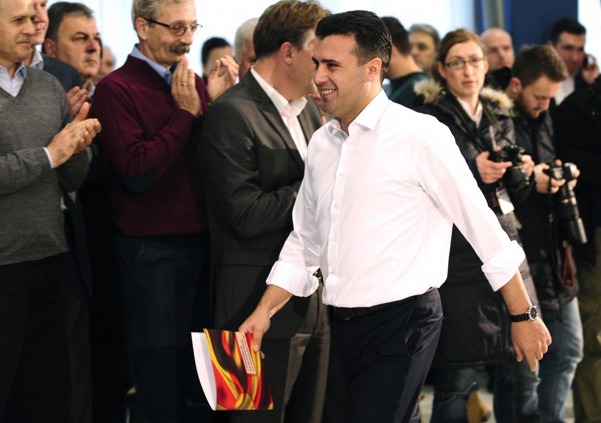 Vůdce sociálích demokratů Zoran Zaev