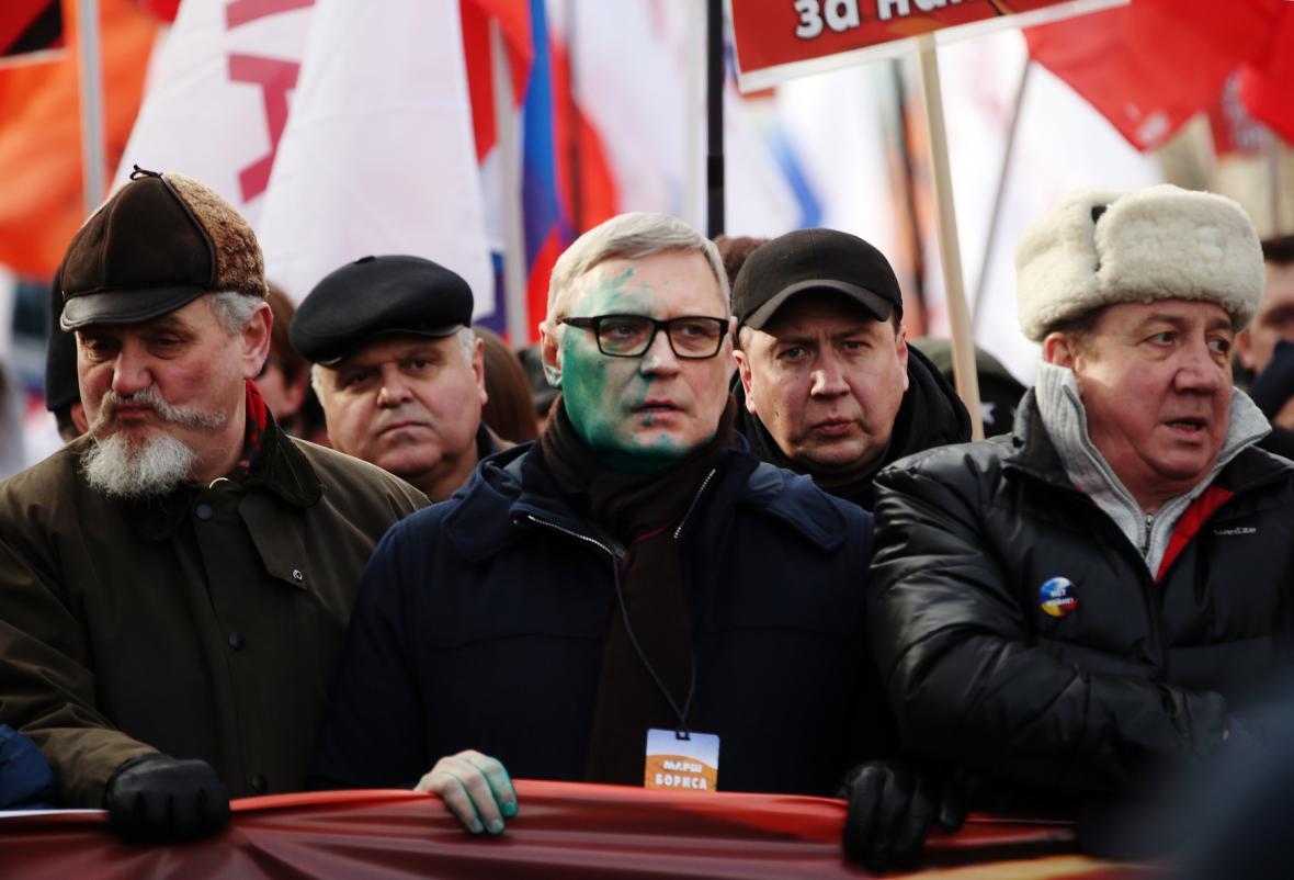 Pochod na památku Borise Němcova - Michal Kasjanov