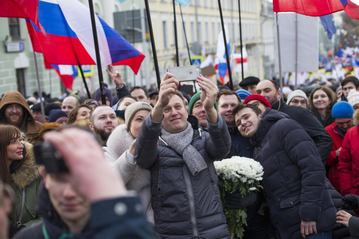 Pochod na památku Borise Němcova - Alexej Navalnyj