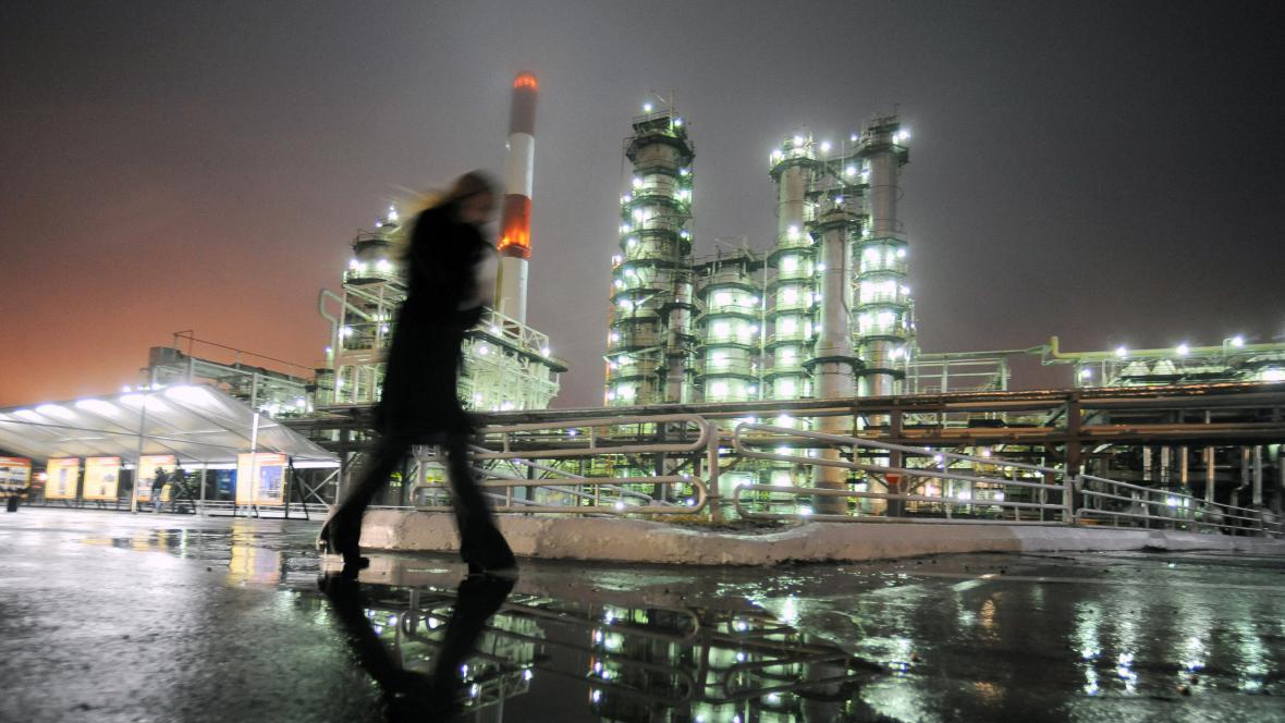 Rafinerie u ruského města Samara