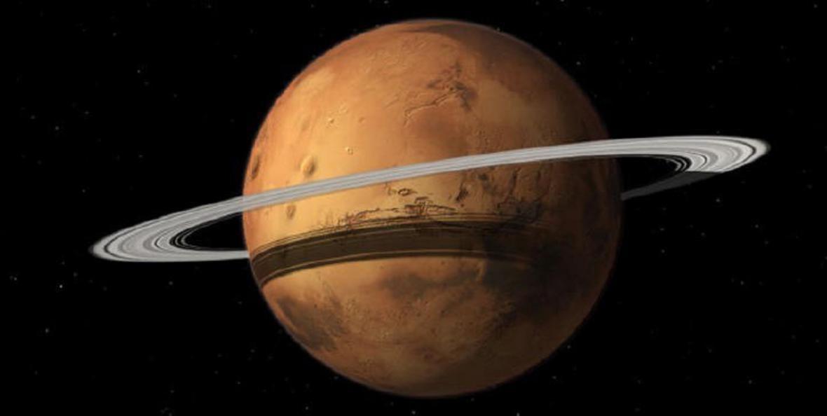 Jak by vypadal Mars s prstenci?