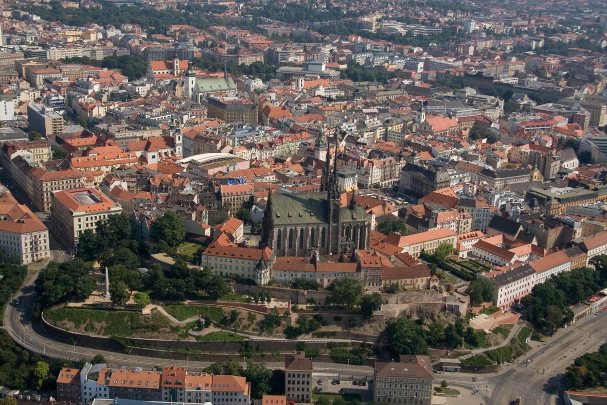 Letecký záběr města Brna