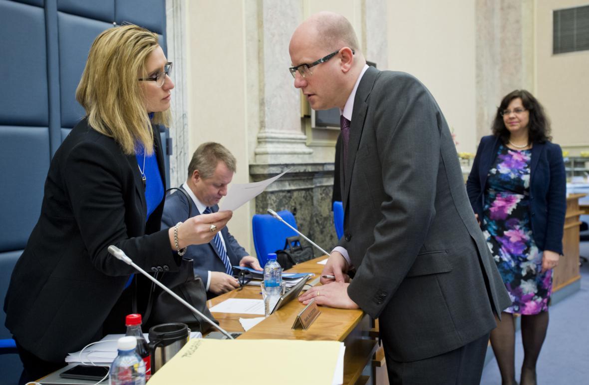 Karla Šlechtová a Bohuslav Sobotka