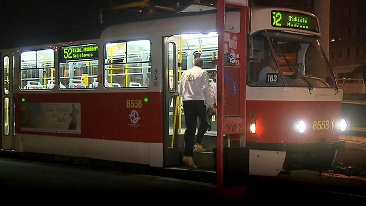 Noční linka v Praze