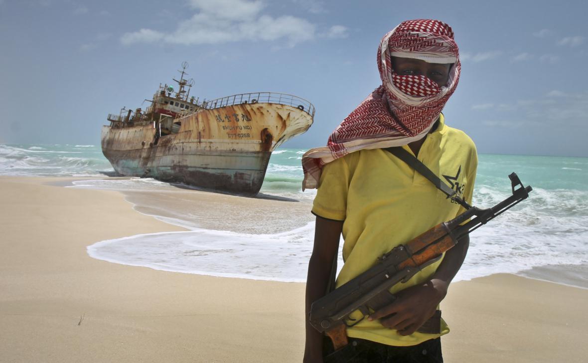 Somálský pirát. Ilustrační foto