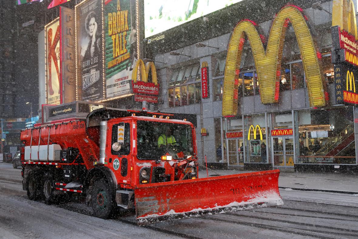 Sněhová bouře na východě USA