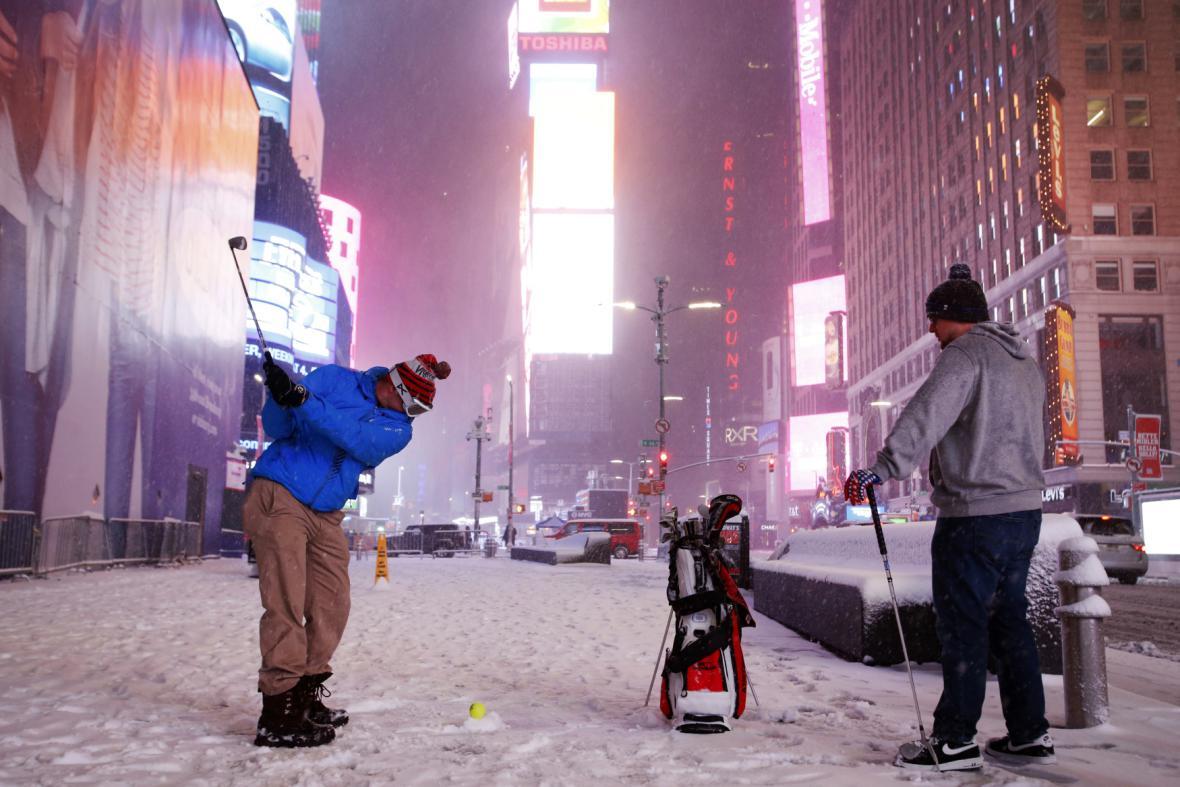 Sněhem zasypaný New York